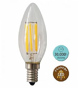 Λάμπα LED FILLAMENT 6W Ε14 2700k